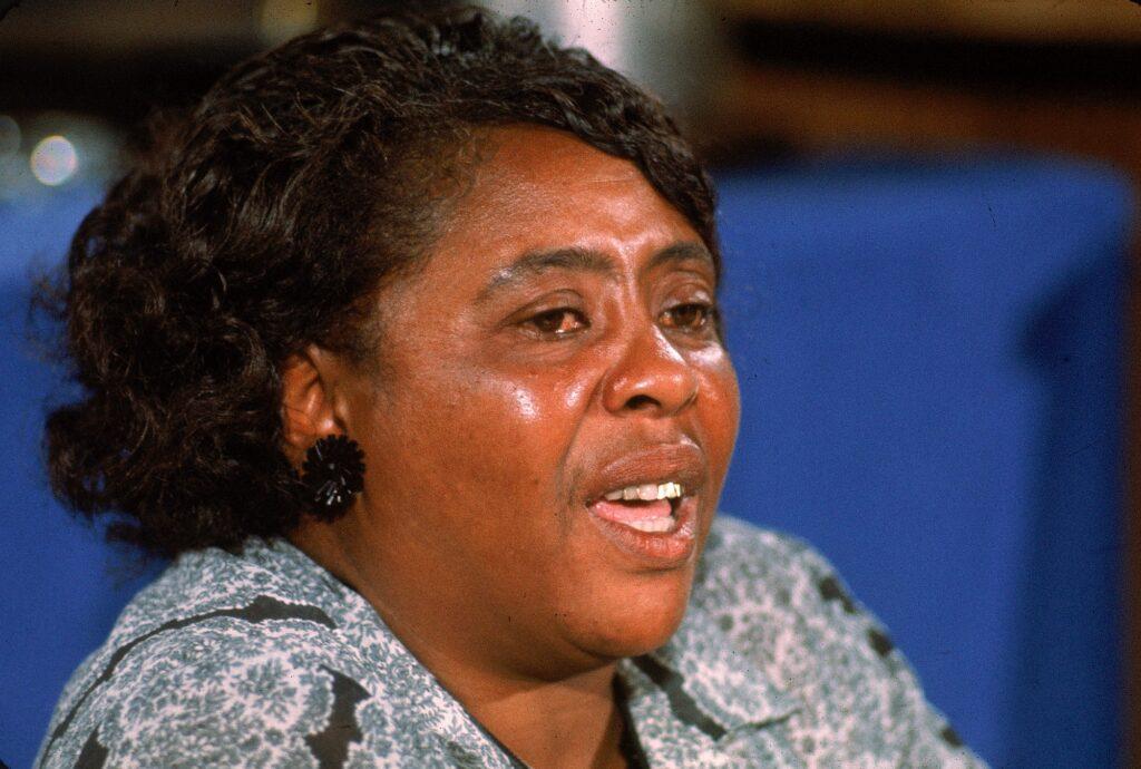 Fannie Lou Hamer, vicepresidenta del Partido Demócrata