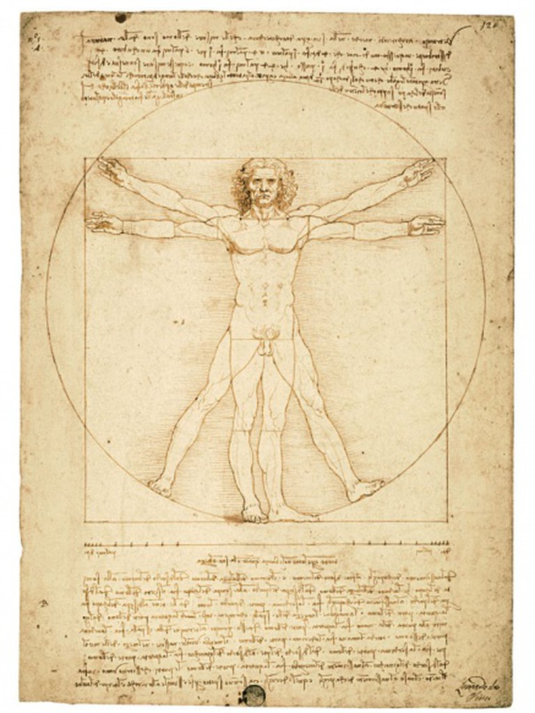 Una de las obras más perfectas de Leonardo, El Hombre Vitruvio