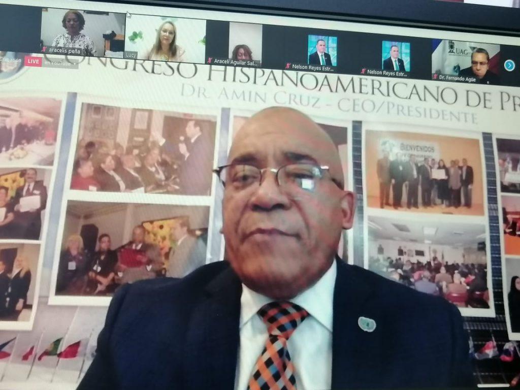 Dr. Amin Cruz agradece la asistencia a todos periodístas y comunicadores.