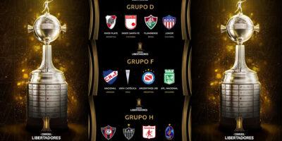 Grupos D-F-H en la Copa Libertadores