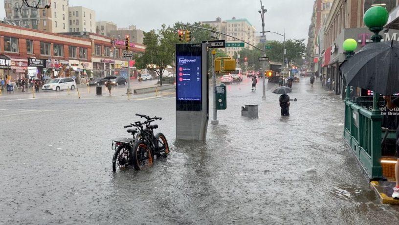 Calles de New York inundadas